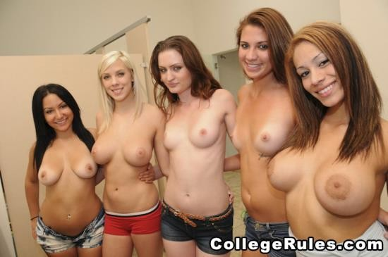 CollegeRules - Amateurs Girls - Fun-Loving Coeds (HD/933 Mb)