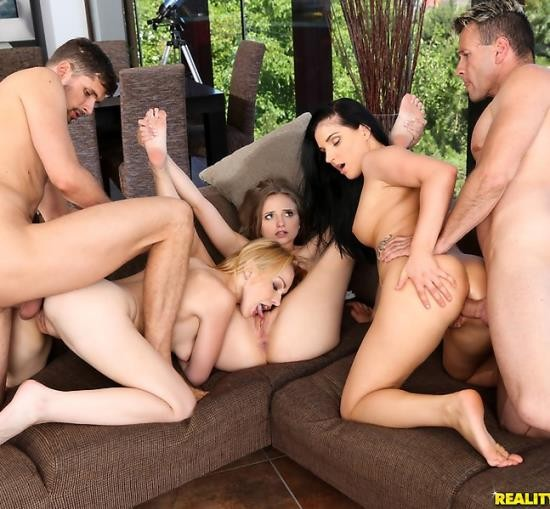 EuroSexParties/RealityKings - Lady Bug, Lucia Denvile, Rebecca Black - Fucking With Friends (HD/1.41 GiB)