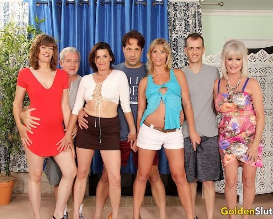 GoldenSlut - Sky Haven, Babe Morgan, Leah LAmour, Michele Marks - Aged To Perfection Orgy (FullHD/3.64 GB)