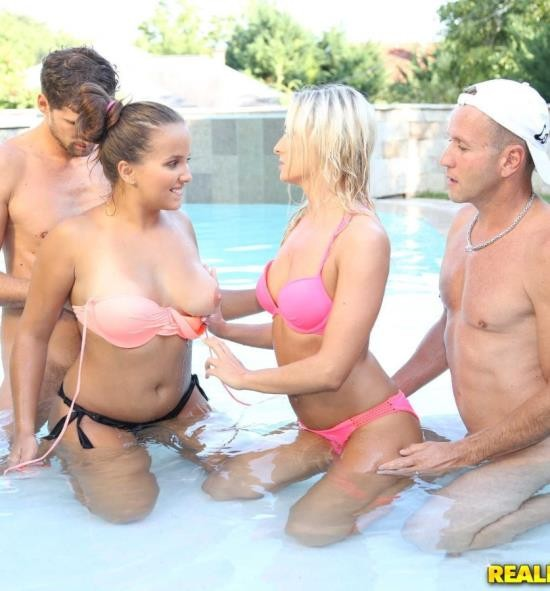 EuroSexParties/RealityKings - Olivia Nice, Victoria Pure - Pool Party (HD/784 MiB)