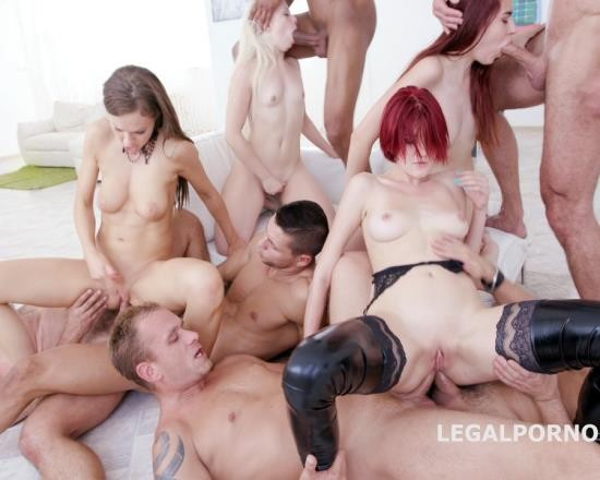 LegalPorno - Tina Kay, Bree Haze, Anna Rey, Scyley Jam - Outnumbered Both Ways Part 2 - 4 Girls VS 6 Boys With Tina Kay. Scyley Jam, Anna Rey, Bree Haze DAP Orgy GIO445 (HD/1.59 GB)