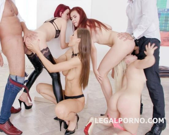 LegalPorno - Tina Kay, Bree Haze, Anna Rey, Scyley Jam - Outnumbered Both Ways Part 1 - 4 Girls VS 2 Boys With Tina Kay, Scyley Jam, Anna Rey, Bree Haze. GIO444 (FullHD/5.15 GB)