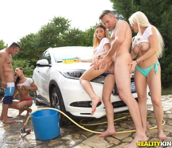 EuroSexParties/RealityKings - Christina Shine, Maya Crush, Cayenne Hot - Euro Boob Wash (FullHD/2.71 GiB)