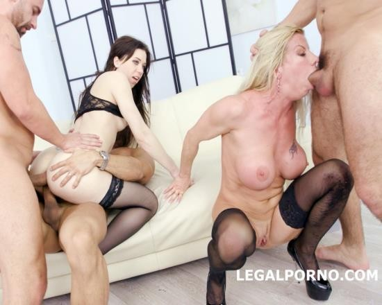 LegalPorno - Lara De Santis, Monika Wild - 4 On 2 Manhandle And DAP Monika Wild Gets The Fuck Of Her Life With Lara De Santis Balls Deep Anal, DAP, Gapes, Slapping GIO497 (HD/1.79 GB)