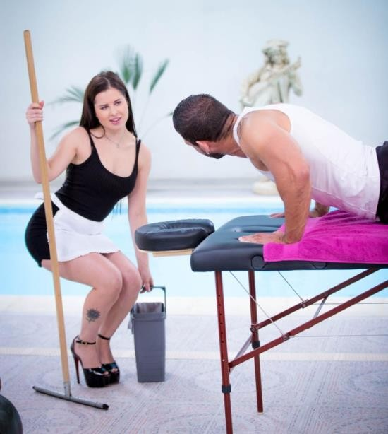Private - Cassie Fire - Cassi Fire, hotel maid enjoys anal with the masseur (HD/1.55 GiB)