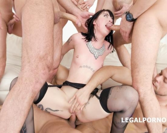 LegalPorno - Charlotte Sartre - 7 On 1 DAP Gangbang With Charlotte Sartre Balls Deep Anal And DAP, Big Gapes, Facial, Swallow GIO575 (FullHD/5.12 GB)