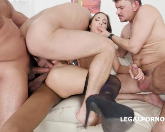 LegalPorno - Kristy Black - Kristy Black Lesson 1 4 On 1 Anal, DAP, TP, Gapes, Creampie To Glass And Swallow GIO607 (FullHD/5.32 GB)