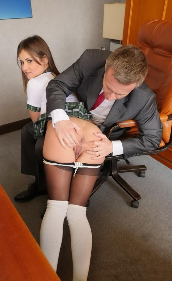 PornDoePremium - Mina Sauvage - Sexy squirting French schoolgirl Mina Sauvage fucks principal in his office (HD/720p/594 MB)
