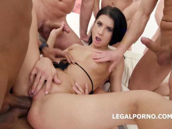 LegalPorno - Nicole Black - Nicole Black Lesson Number 8, 10 On 1 DAP Gangband Balls Deep Anal, DAP, TP, Gapes, Swallow GIO576 (HD/1.97 GB)