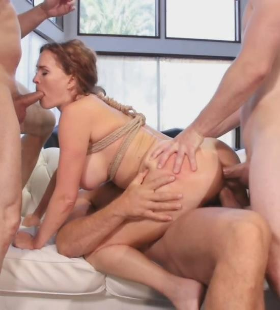 BoundGangBangs/Kink - Krissy Lynn - Horny at Home Gets Tied Up and Gangbanged (HD/2.11 GiB)