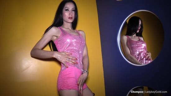 LadyboyGold - Chompoo - Slutty Pink Mini Bareback CIM Handjob (HD/720p/970 MB)