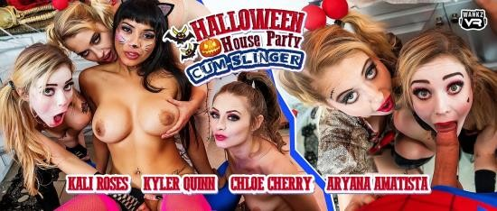 WankzVR - Aryana Amatista, Chloe Cherry, Kali Roses, Kyler Quinn - Halloween House Party: Cum-Slinger (FullHD/1080p/5.07 GB)