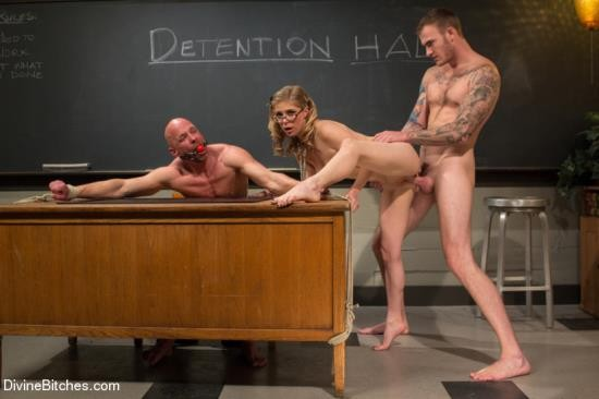 DivineBitches/Kink - Chad Rock, Christian Wilde, Penny Pax - Bratty Princess Penny cuckolds her teacher in front of the class! (HD/720p/1.99 GB)