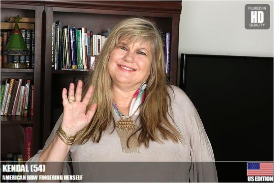 mature.nl / usa-mature - Kendal (54) - American BBW Fingering Herself (HD/720p/1.14 GB)