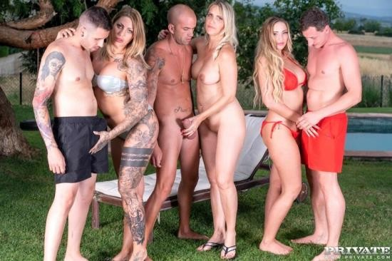 PrivateFetish/Private - Julia Pink, Kim Davis, Mia Blow - Busty MILFs Enjoy Summertime Orgy (HD/720p/1.19 GB)