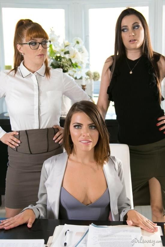 GirlsWay - Adriana Chechik, Penny Pax, Georgia Jones - Lady Boss: Orientation (FullHD/1080p/1.48 GB)