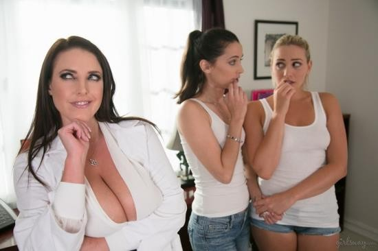 GirlsWay - Mia Malkova, Georgia Jones, Angela White - The Chiropractor: Part Two (FullHD/1080p/2.05 GB)