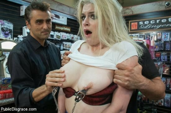 PublicDisgrace/Kink - Toni Ribas and Danielle Delaunay - Danielle Delaunay Fucked in Sex Shop (HD/720p/2.10 GB)
