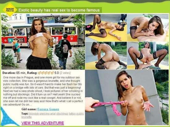 PublicSexAdventures/WTFPass - Ferrera Gomes - Exotic beauty has real sex to become famous (HD/720p/2.35 GB)