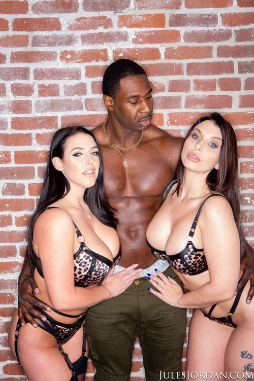 JulesJordan - Angela White, Ivy Lebelle - Tag Team Duo Find Dark Meat At A Taco Stand (HD/720p/832 MB)