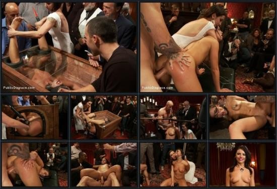 PublicDisgrace/Kink - Barry Scott and Adriana Chechik - 21 yr old Hottie Submits to Hard Fucking and Humiliation (SD/540p/724 MB)