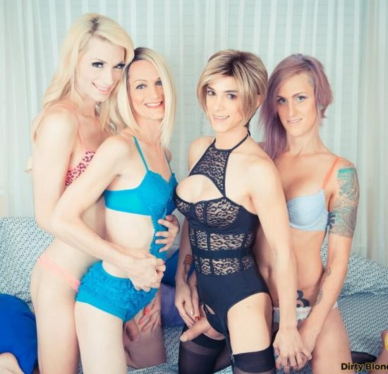 DirtyBlondeTranssexuals - Sami Price, Nina Lawless, Brooke Zanell,, Holly Parker - Fierce-some T-Girl Foursome Part 1 and Part 2! (HD/720p/736 MB)