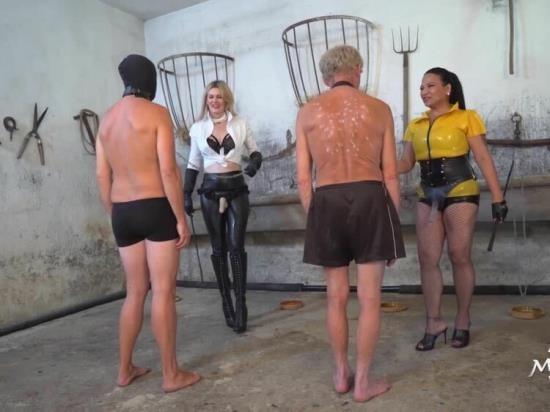 Mistress Saint Lawrence, Domina Scarlet, KinkyMistresses - Mistress Saint Lawrence, Domina Scarlet - Double Strap-On Fun (HD/720p/232 MB)
