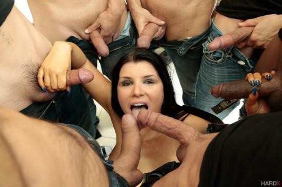 HardX - Romi Rain - 10 Guy Massive Facial (HD/720p/1.07 GB)