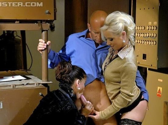 PissingInAction/Tainster - Bibi Fox, Cindy Gold - Building Inspector Speaks The Language Of Sex (HD/720p/740 MB)