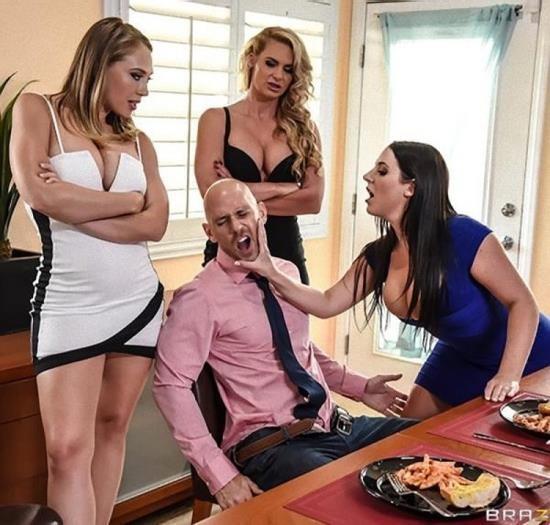 PornStarsLikeItBig/Brazzers - Angela White, Kagney Linn Karter, Phoenix Marie - Dinner For Cheats (FullHD/1080p/1.61 GB)