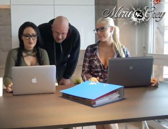 MyDirtyHobby - Lara-CumKitten, Mira-Grey - Fuck tuition extremely! Nerd Glasses Insemination (HD/720p/114 MB)