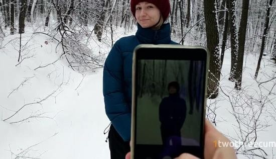 Chaturbate - 1twothreecum - Walk in Snowy Forest Turned into Choking on Hot Cum (FullHD/1080p/229 MB)
