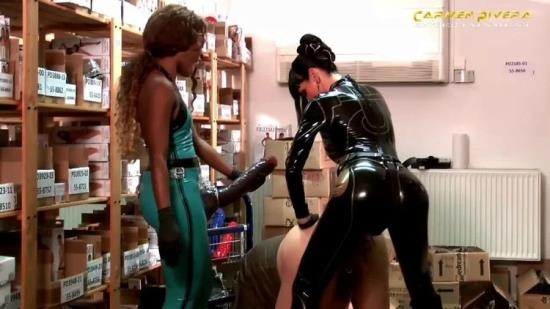 CarmenRivera - CarmenRivera - Two Mistress Monster Strapon Domination To Slave In Sexshop (HD/720p/810 MB)