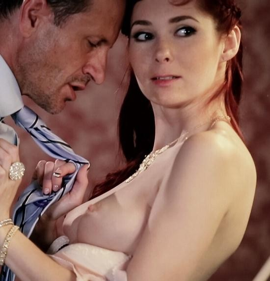 PinupSex/PornDoePremium - Kattie Gold - Busty Czech pinup redhead Kattie Gold gets fucked on the pool table (HD/720p/420 MB)