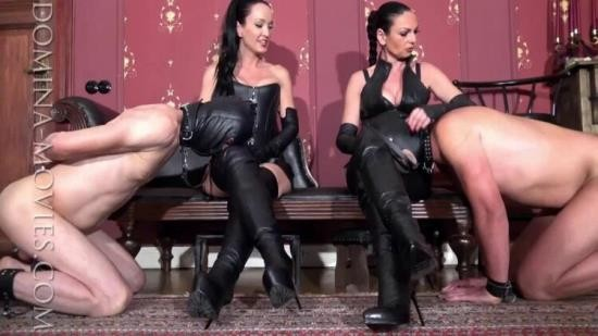MadameCatarina - Cruelest Beauty - The Boot Slave Train: Four Boots-Two Slaves: Entire Movie (HD/720p/978 MB)