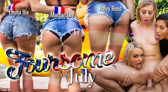 WankzVR - Emma Hix, Haley Reed, Morgan Lee - Foursome of July (FullHD/1080p/4.35 GB)