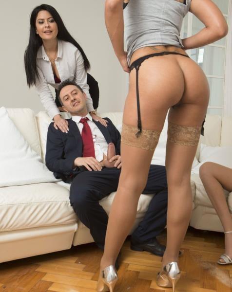 DorcelClub - Rose Valerie, Amber Jayne, Mariska - His wife offers him 2 slutty girls (FullHD/1080p/527 MB)