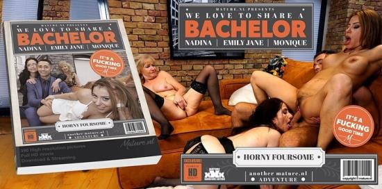 Mature.nl - Emily Jane (EU) (64), Monique (EU) (49), Nadina (33) - Three mature ladies seducing a strapping bachelor who knows how to please them all (FullHD/1080p/2.20 GB)