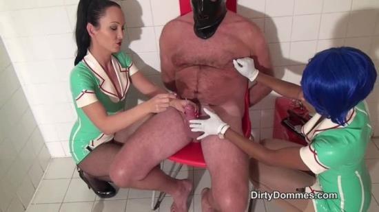 DirtyDommes - Fetish Liza - Sounding By Latex Nurses (HD/720p/254 MB)