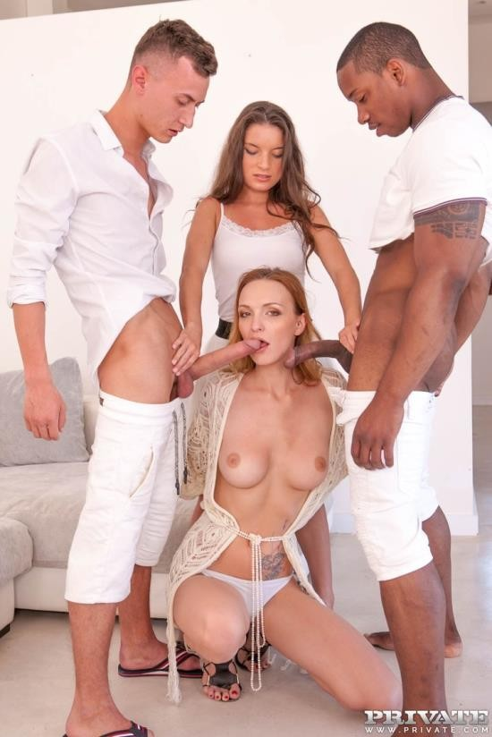 AnalIntroductions/Private - Belle Claire, Anita Bellini - Belle Claire and Anita Bellini, interracial orgy with DP (FullHD/1080p/1.04 GB)