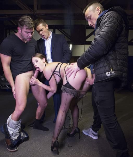 DorcelClub - Claire Castel - Fucked hard by 3 men in a parking lot (HD/720p/286 MB)