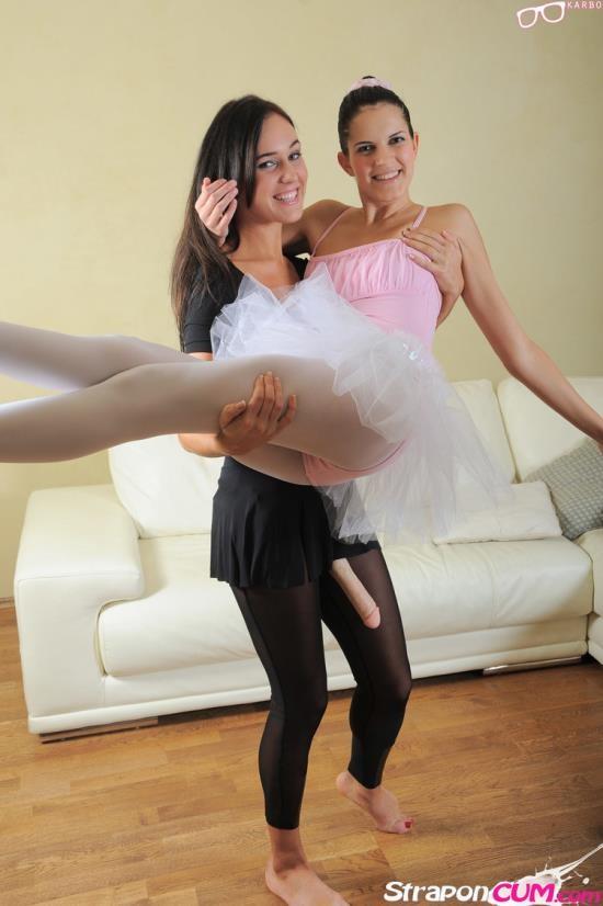 Straponcum - Agnes, Roxie - Ballerina strapon fucked! (HD/720p/955 MB)