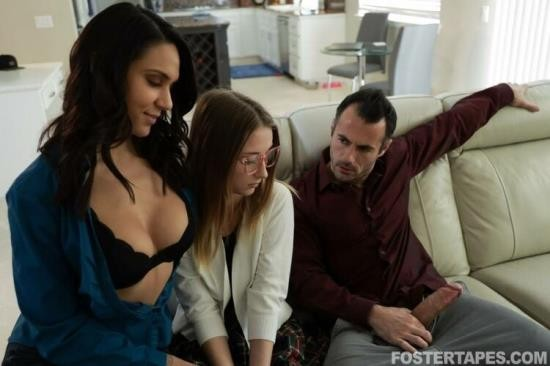 FosterTapes/TeamSkeet - Macy Meadows, Alexis Zara - Lonely Foster Daughter Offers Her Body (HD/720p/533 MB)