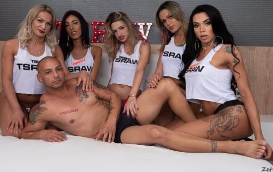 TSRaw - Alice Marques, Bianca Reis, Juliana Leal, Nanda Molinari, Pamela Levinsky - 5 Tgirl 1 Guy Creampie Gangbang Train (FullHD/1080p/4.20 GB)