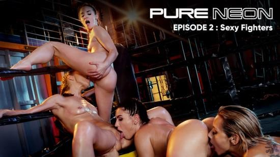 RoccoSiffredi - Alyssa Reece, Honey Demon, Amirah Adara, Veronica Leal - Pure Neon Sexy Fighters (HD/720p/1.12 GB)