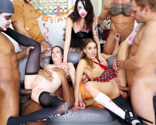 LegalPorno - Anna De Ville, Eveline Dellai, Giada Sgh - Halloween Gets Spooky And Wet! Anna De Ville And Eveline Dellai Turn Into Zombies And Make Big Mess GIO1636 (HD/1.51 GB)