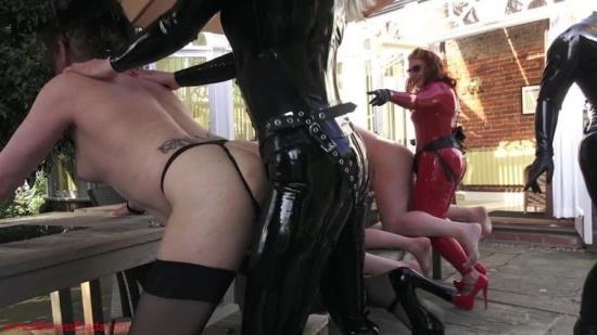 MistressEzadaSinn - Mistress Ezada Sinn - Outdoors Strap-On Orgy (HD/720p/487 MB)