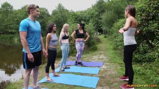PureCFNM - Emma Leigh, Lola Rae, Satine Spark, Tina Kay - Outdoor Yoga (FullHD/1080p/738 MB)