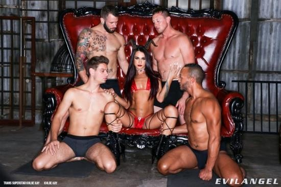 EvilAngel - Pierce Paris, Dillon Diaz, Michael DelRay, Johnny Hill, Khloe Kay - TS Superstar Khloe Kay Sc. 4: DAP! (HD/720p/802 MB)