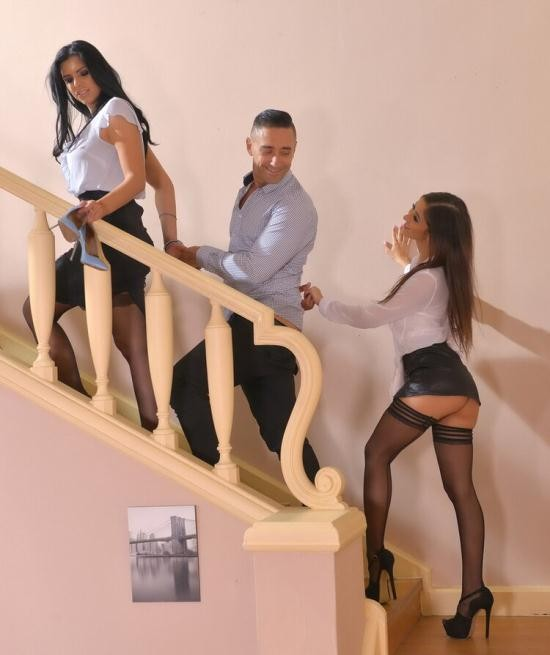HotLegsAndFeet/DDFNetwork - Kira Queen, Darce Lee - A Maid's Desire: Foot Fetish Threesome With Two Leggy Babes (FullHD/1080p/1.28 GB)